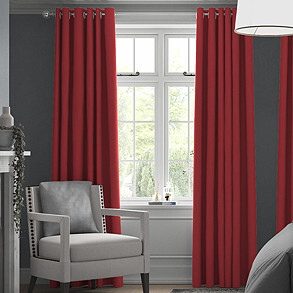 Windsor, Red - Made to Measure Curtains