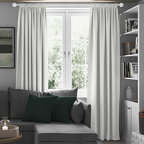 Windsor, White - Made to Measure Curtains