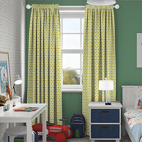 Zap, Lime - Made to Measure Curtains
