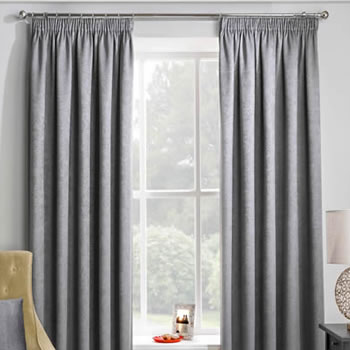 Adelaide (Thermal Dimout), Grey - Ready Made Curtains