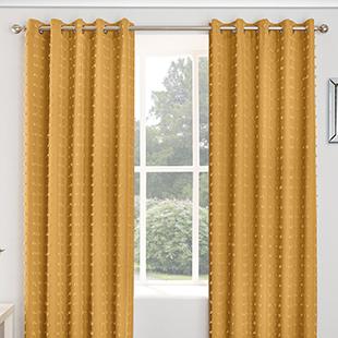Aruba Eyelet, Honey - Ready Made Curtains