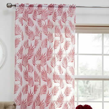 Bermuda Voile, Red - Ready Made Curtain