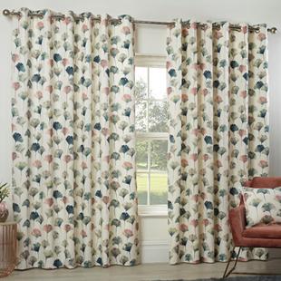 Camarillo (Eyelet), Flamingo - Ready Made Curtains