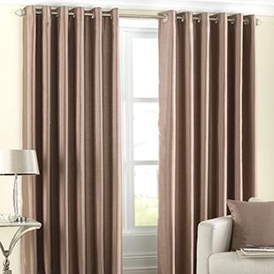 Georgia Eyelet, Latte - Ready Made Curtains
