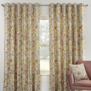 Giverny (Eyelet), Sienna - Ready Made Curtains
