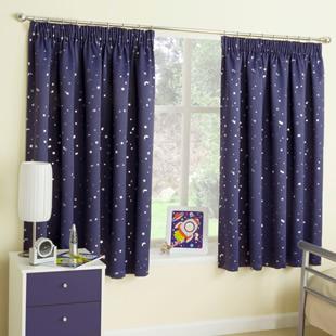 Harmony, Navy - Ready Made Curtains