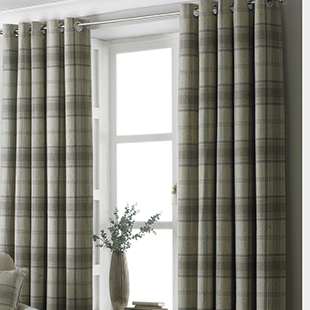 Harris Eyelet (Dimout), Natural - Ready Made Curtains