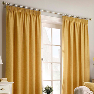 Oregon (Dimout), Ochre - Ready Made Curtains