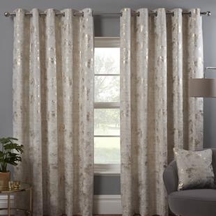 Osaka (Eyelet), Natural - Ready Made Curtains