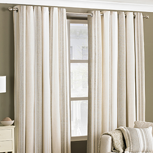 West End Eyelet (Dimout), Coffee - Ready Made Curtains