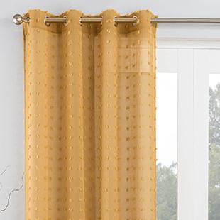Bali Eyelet Voile, Honey - Ready Made Curtain