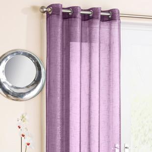 Kensington Eyelet Voile, Purple - Ready Made Curtain