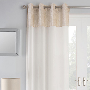 Liberty Eyelet Voile, Natural - Ready Made Curtain