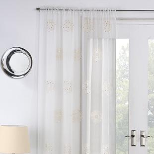 Nova Voile, Cream - Ready Made Curtain