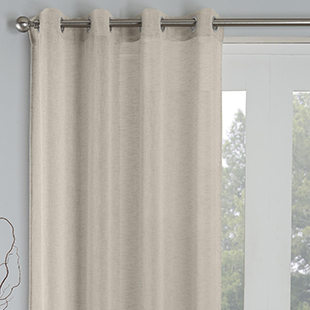Palm Eyelet Voile, Natural - Ready Made Curtain